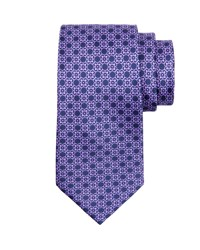 Stefano Ricci Medallion Silk Tie Blue Purple