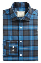 Men's Big And Tall Todd Snyder White Label Trim Fit Plaid Dress Shirt Blue