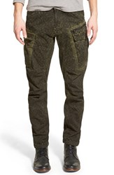 G Star Men's G Star Raw Camo Print Tapered Cargo Pants