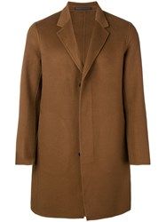 Theory Single Breasted Coat Neutrals