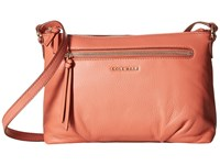 Cole Haan Magnolia Top Zip Crossbody Coral Cross Body Handbags