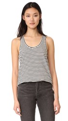 Madewell Whisper Cotton Scoop Tank In Wentworth Stripe Bright Ivory