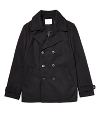 Selected Mercer Double Breasted Wool Pea Coat