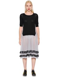 I'm Isola Marras Knit And Polka Dot Techno Chiffon Dress