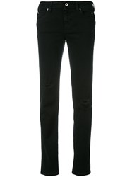 Just Cavalli Distressed Straight Jeans Black