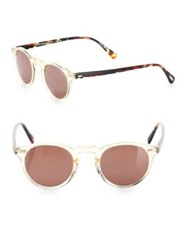 Oliver Peoples Gregory 47Mm Round Sunglasses Clear