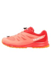Salomon Sense Pro 2 Trail Running Shoes Living Coral Poppy Red Bright Marigold