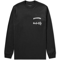 Mhi Maharishi Long Sleeve Ohm Patch Logo Tee Black