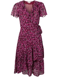 Michael Michael Kors Wrap Butterfly Dress Pink