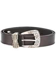 Alberta Ferretti Buckle Belt Women Calf Leather 105 Brown