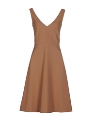 Space Style Concept Knee Length Dresses Brown