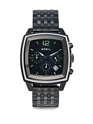 Breil Milano Square Stainless Steel Chronograph Dial Watch Black