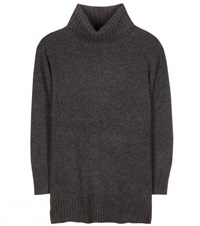 Polo Ralph Lauren Flora Cashmere And Wool Blend Turtleneck Sweater Grey