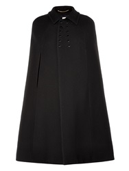 Saint Laurent Double Breasted Wool Cape