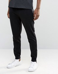 Hugo By Boss Tapered Jogger Zip Cuff Contrast Detail Black Grey