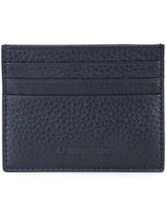 Cerruti 1881 Embossed Wallet Men Calf Leather One Size Blue
