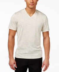 Alfani Big And Tall Tobin V Neck T Shirt Only At Macy's Sunlt Yellow