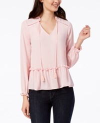 Maison Jules Peplum Top Created For Macy's Pink Lily
