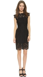 Rachel Zoe Suzette Fitted Dress Black