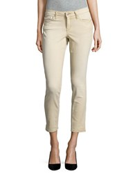 Jessica Simpson Forever Rolled Skinny Jeans Beige