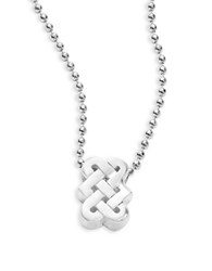 Alex Woo Sterling Silver Love Knot Necklace