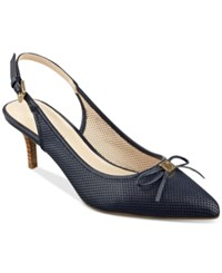 Tommy Hilfiger Janis Slingback Pumps Women's Shoes Navy