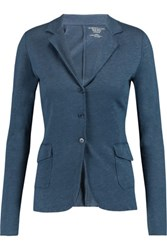 Majestic Linen And Silk Blend Blazer Storm Blue