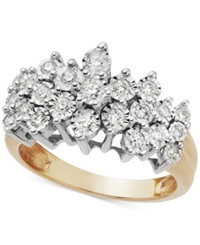 Macy's Diamond Crown Ring In 10K Gold 1 2 Ct. T.W.