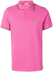 Moncler Short Sleeved Polo Shirt Pink