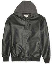 Billabong Future Faux Leather Hooded Jacket