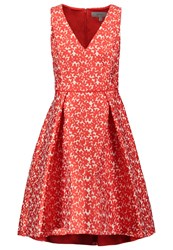Coast Jariney Jacq Summer Dress Coral Red