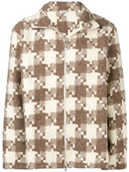 Our Legacy Check Zipped Jacket Brown