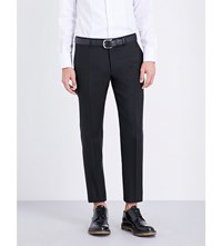Dsquared2 Tapered Wool Blend Trousers Black