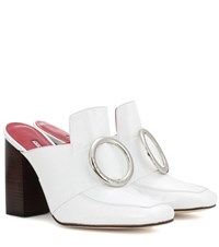 Dorateymur Exclusive To Mytheresa.Com Munise Patent Leather Mules White