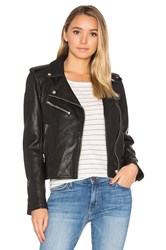 Current Elliott The Roadside Leather Jacket Black