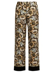 F.R.S Etere Bracelet Print Silk Pyjama Trousers Black Multi