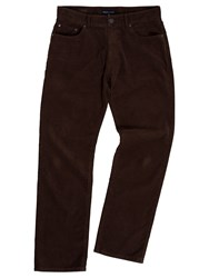 Raging Bull Chocolate Corduroy Trousers Brown