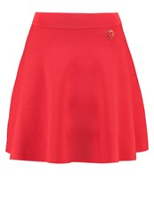 Love Moschino Aline Skirt Red