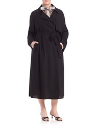 Marina Rinaldi Plus Size Tavolo Long Raincoat Black