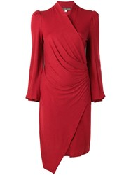 Plein Sud Jeans Wrap Knitted Dress Red
