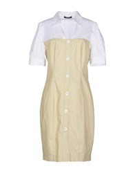Roccobarocco Knee Length Dresses Beige