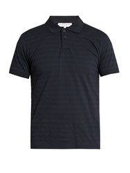 Orlebar Brown Jarrett Cotton Pique Polo Shirt Navy