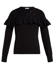 Erdem Joceline Pointelle Knit Sweater Black