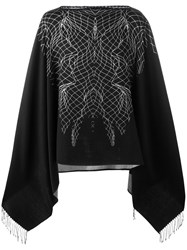 Marcelo Burlon County Of Milan Asier Poncho Black
