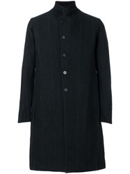Devoa Pinstriped Coat Black
