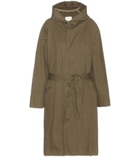 Isabel Marant Etoile Marley Cotton And Linen Parka Green