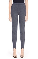 Women's St. John Collection 'Alexa' Crop Denim Boucle Leggings