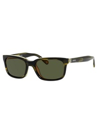 Jack Spade Payne Rectangular Sunglasses Green