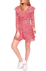 Free People Frenchie Wrap Minidress Red