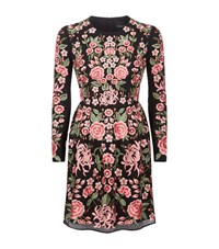 Needle And Thread Embroidered Rose Prom Dress Female Black
